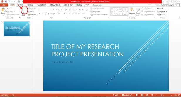 Easy Steps to Preparing PowerPoint Slides for Your Research Project