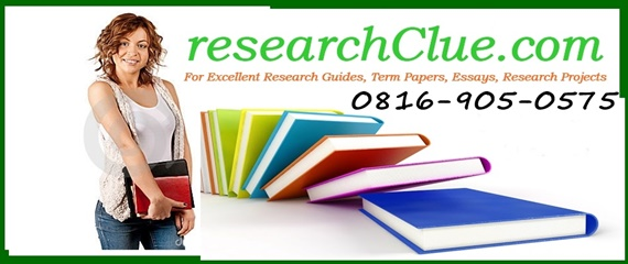FREE RESEARCH PROJECT TOPICS AND MATERIALS IN NIGERIA